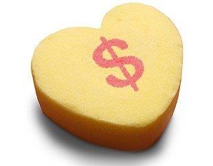 Heart with dollar mark