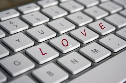 Keyboard with love letters