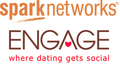 Sparknetworks engage logo