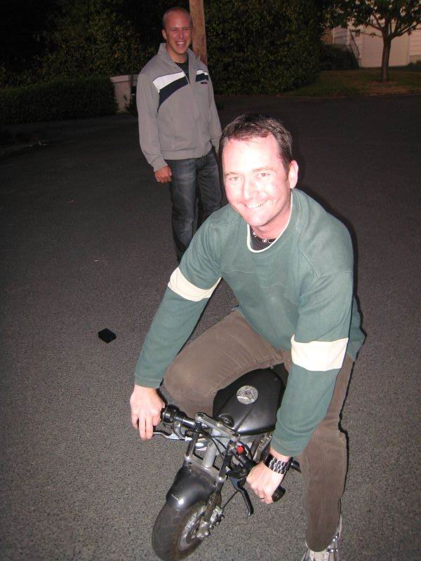 Mark na motorce