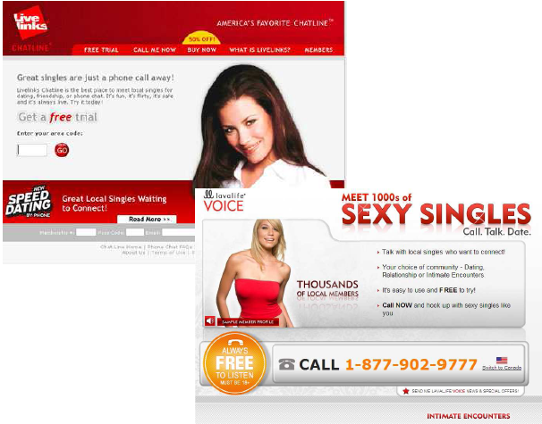 Free dating phone lines florida