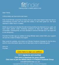 Fitfinder screenshot