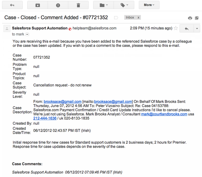 Salesforce letter screenshot