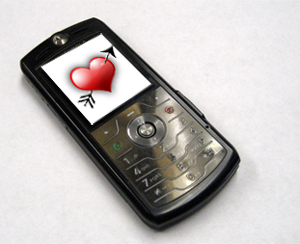 Mobile dating cell with heart