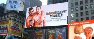 Manhunt billboard dec 12 ny