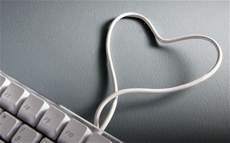 Online dating keybord with heart