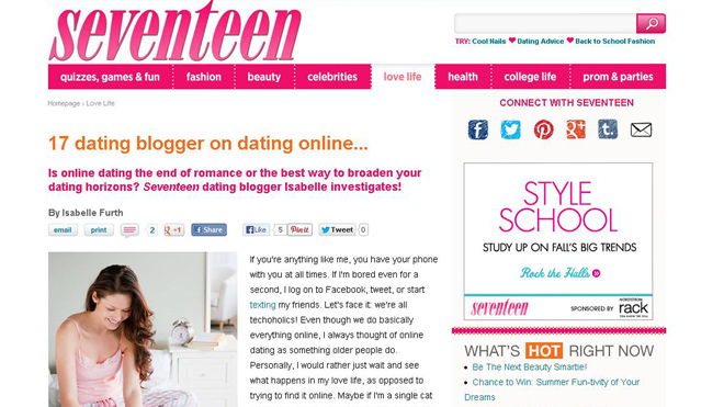 Seventeen magazine screenshot