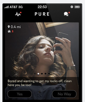 Pure app screenshot