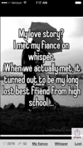 Whisper app screenshot