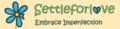 Settleforlove logo