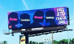 Dating apps stds billboard