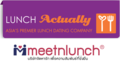 Lunchactually meetnlunch logos