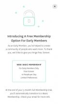 Hinge free membership