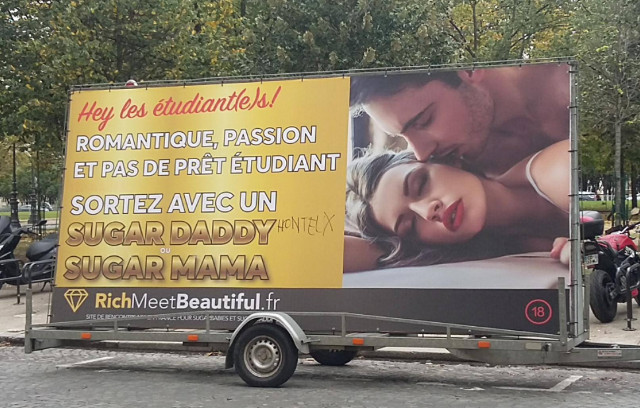 Richmeetbeautiful billboard france