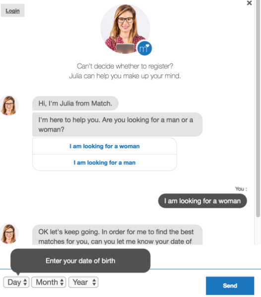 Ourtime chatbot julia