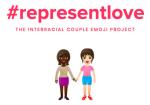 Interracial couple emoji project