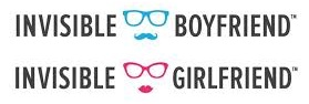 Invisible boyfriend girlfriend logos