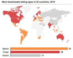 Most downloaded dating apps worldwide