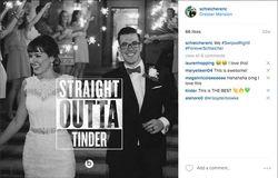 Tinder wedding photo
