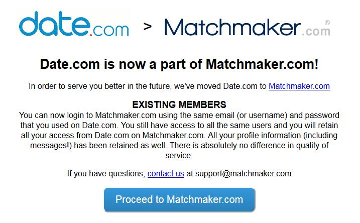 Datecom to matchmakercom