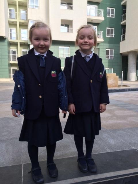 Sasha and Vicki go to school