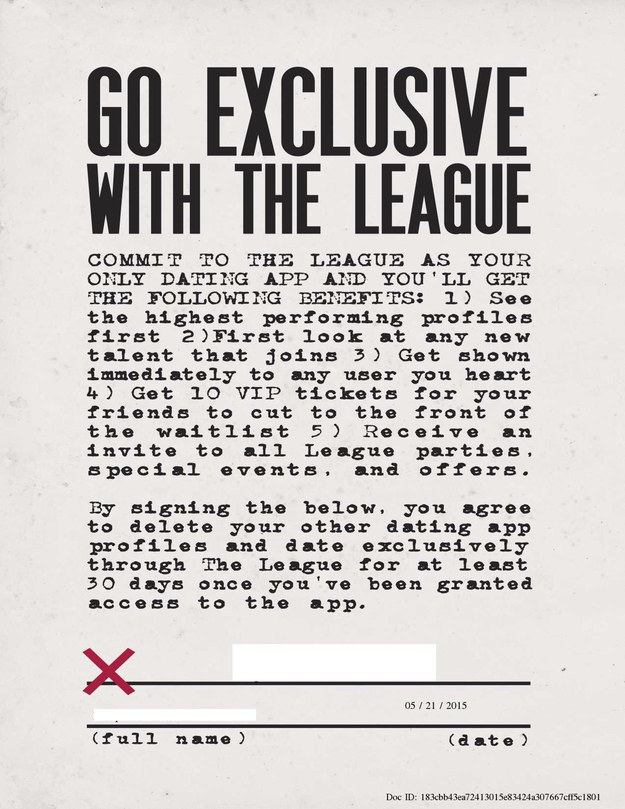Theleague exclusive