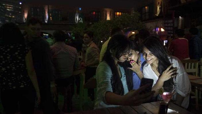Indian girls on mobile