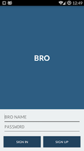 Bro app screenshot