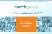 Match group website screenshot