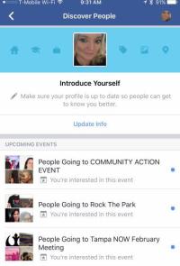 Facebook discover people screenshot