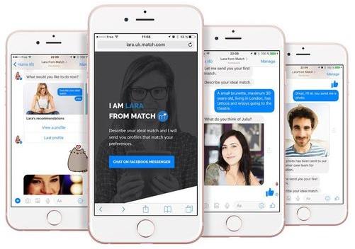 Matchcom chatbot lara