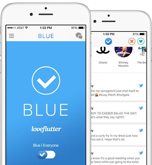 Loveflutter blue screenshot