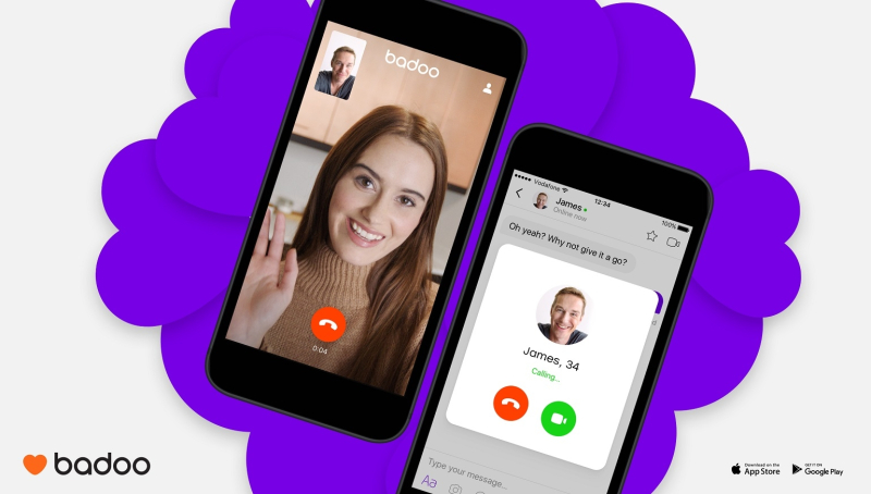 Badoo video chat promo pic