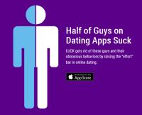 Luck dating app partial screenshot