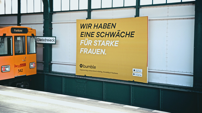 Bumble germany billboard