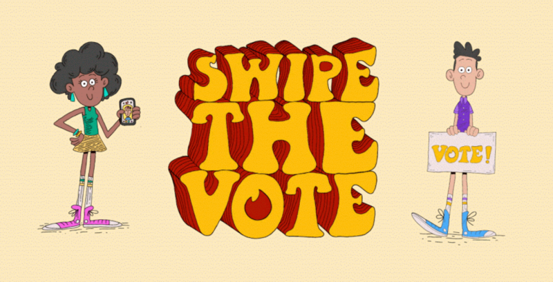 Tinder swipe the vote