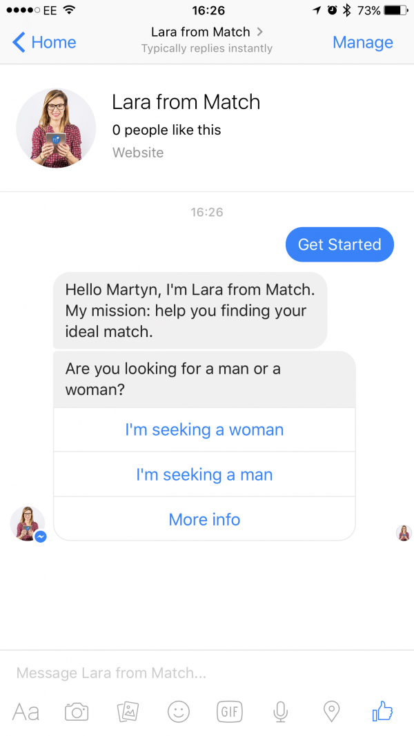 Match.com lara screenshot
