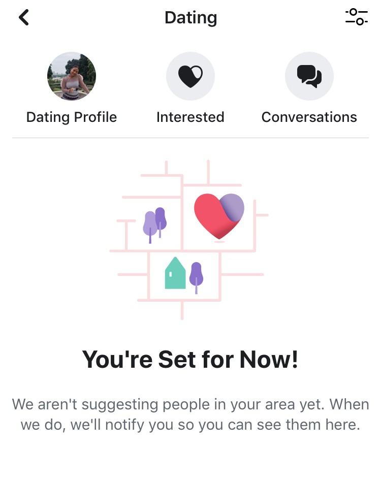 Facebook dating screenshot