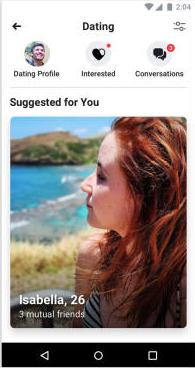 Fb dating screenshot
