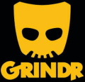 Grindr icon black yellow