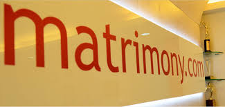 Matrimony logo on the wall