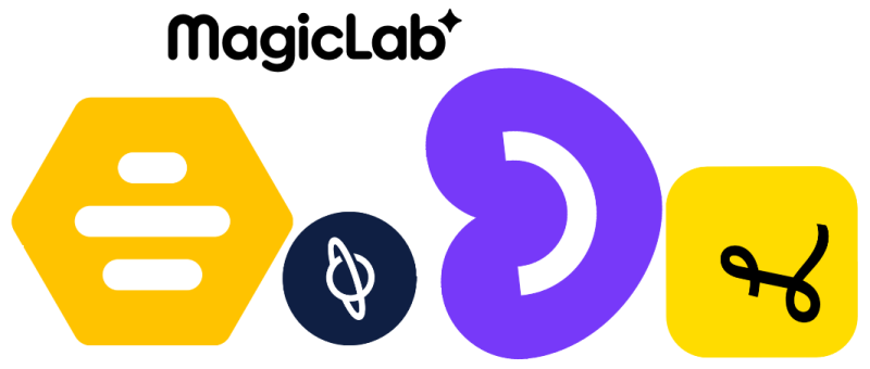 Magic lab logo with brands
