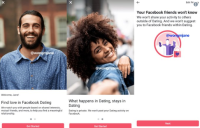 Facebook Dating is planning to introduce new onboarding screens
