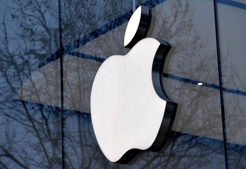 Apple logo on the door