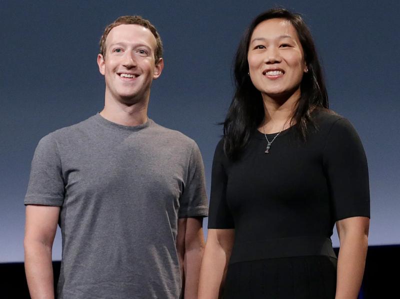 Mark zuckerberg with wife