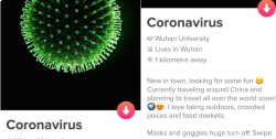 Coronavirus dating profile
