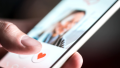 Swiping on dating app