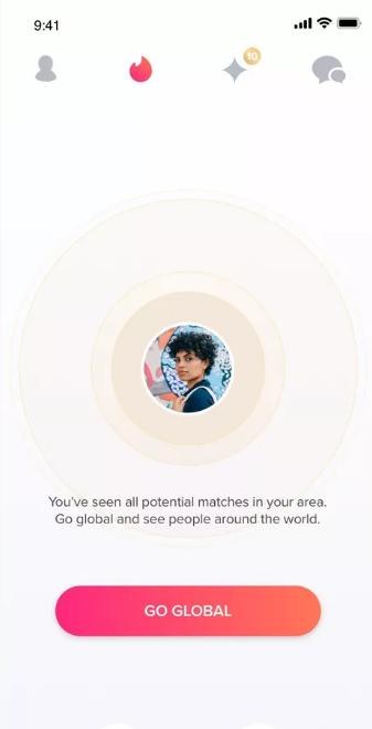 Tinder global mode