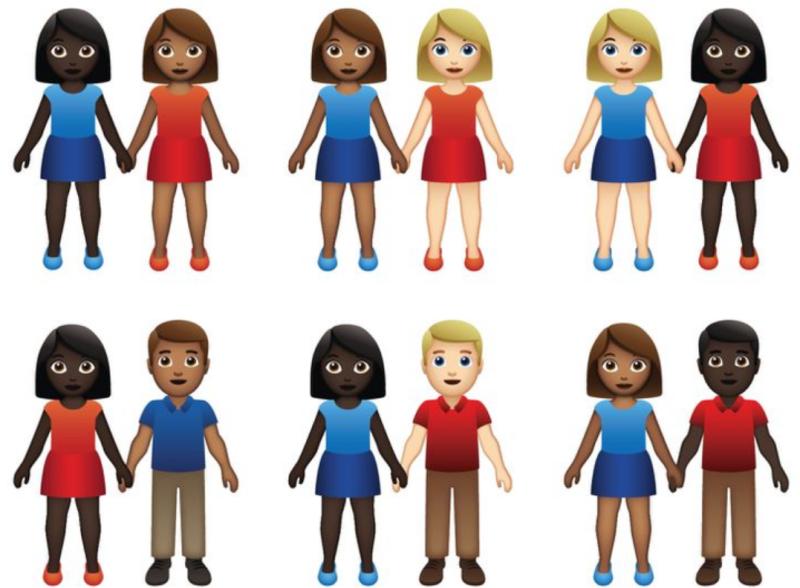 Tinder interracial emojis