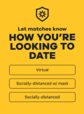 Bumble social distancing filters